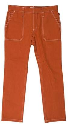 Chloé Mid-Rise Straight-Leg Jeans w/ Tags Terracotta Chloé Mid-Rise Straight-Leg Jeans w/ Tags