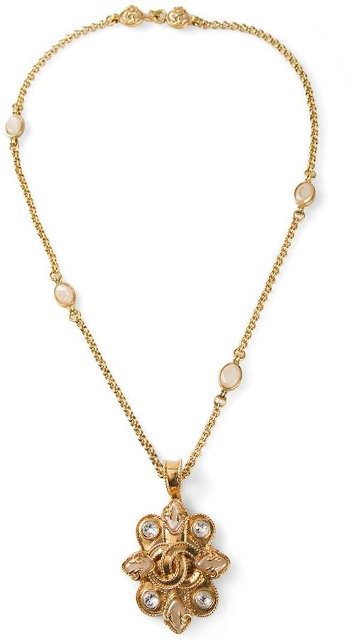 Chanel ornate necklace