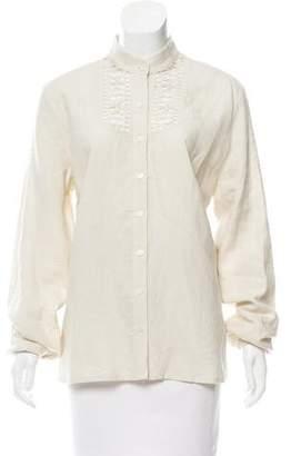 Façonnable Linen Button-Up Top