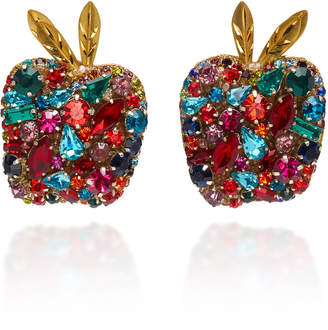 Deepa Gurnani Multicolored Glass Apple Stud Earrings
