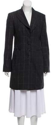Alberta Ferretti Wool Plaid Coat