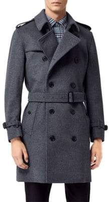 Burberry Kensington Wool& Cashmere Trench Coat