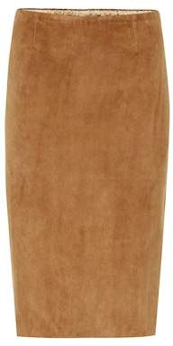 Stouls Gilda suede pencil skirt