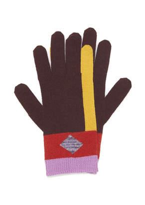 Missoni Striped Wool-Blend Gloves Size: S