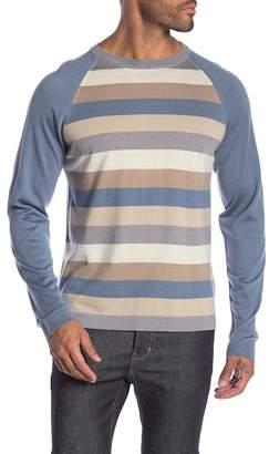 Raffi Raglan Sleeve Striped Print Sweater