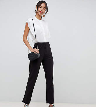 eb6b4f38675 Asos Tall DESIGN Tall pull on tapered black pants in jersey crepe