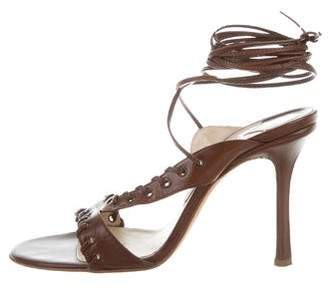 Jimmy Choo Leather Lace-Up Sandals