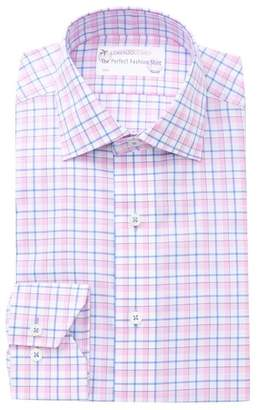 Lorenzo Uomo Box Check Traditional Fit Dress Shirt