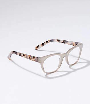 LOFT Tortoiseshell Print Rectangle Reading Glasses