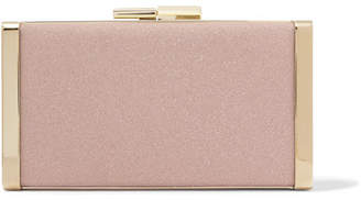 Jimmy Choo J Box Glittered Canvas Clutch - Pink