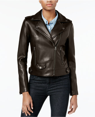 Lucky Brand Faux-Leather Moto Jacket $200 thestylecure.com
