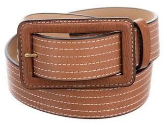 Diane von Furstenberg Leather Buckle Belt