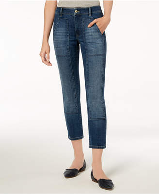 Tommy Hilfiger Patch-Pocket Cropped Jeans, Created for Macy's
