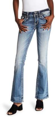 Vigoss Medium Wash Embellished Boot Cut Jeans
