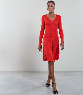 Reiss Carini Seam Detail Wrap Dress