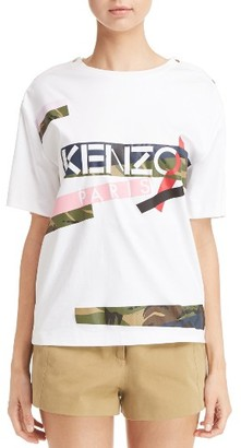 Women's Kenzo Logo Tee $310 thestylecure.com