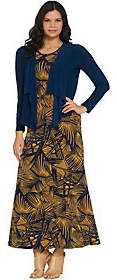 Women with Control Attitudes by Renee Regular Printed Maxi Dresswith Cardigan