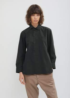 Mhl By Margaret Howell Asymmetric Collared Cotton Shirt