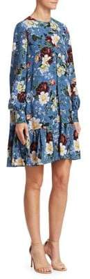 Erdem Christy Floral-Print Trapeze Dress