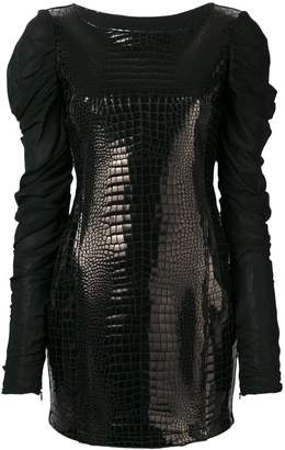 Just Cavalli long-sleeve mini dress