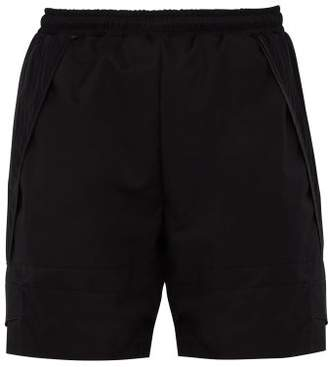 Cottweiler Pleated Technical Fabric Drawstring Shorts - Mens - Black