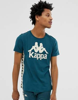 Kappa t-shirt with chest logo and banda taping in blue