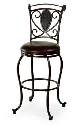 Hillsdale Furniture Scarton Swivel Counter Stool - Dark Chocolate