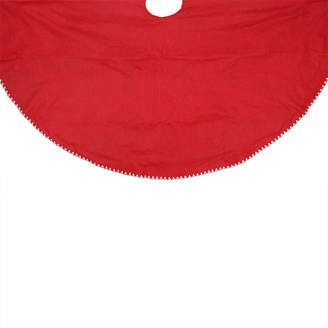 Asstd National Brand 48 Christmas Traditions Reversible Red and Green with White Shell Stitching Christmas Tree Skirt