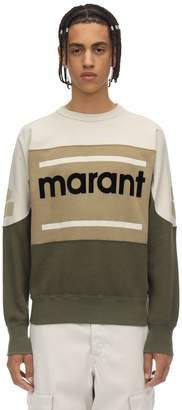 Isabel Marant Gallianh Printed Cotton Jersey Crewneck