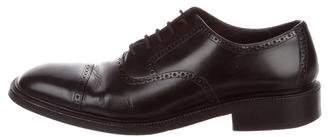 Gucci Leather Cap-Toe Brogues