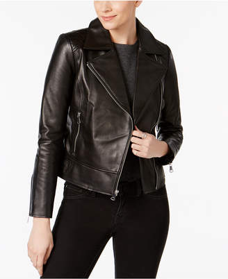Marc New York Leah Leather Moto Jacket $450 thestylecure.com