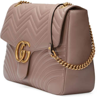 64a22e76d30e Gucci GG Marmont Large Chevron Quilted Leather Shoulder Bag
