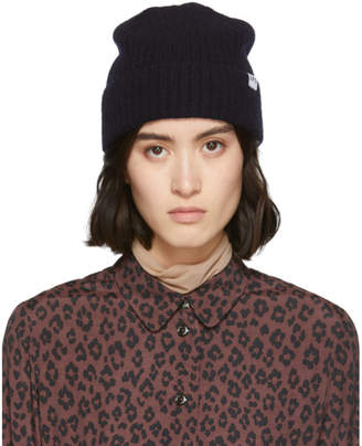 A.P.C. Navy Wool Bonned Jude Beanie