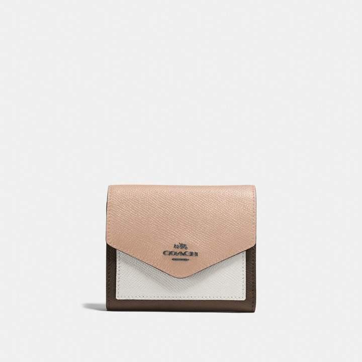 Coach New YorkCoach Small Wallet In Colorblock - FATIGUE MULTI/DARK GUNMETAL - STYLE