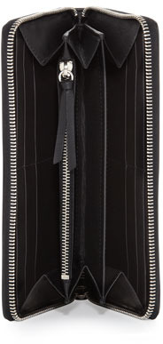 Balenciaga Classic Continental Zip Wallet, Noir