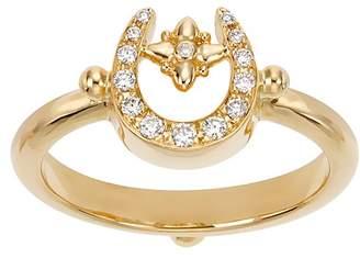 Temple St. Clair 18K Yellow Gold Pavé Diamond Mini Horseshoe Ring