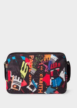 Paul Smith Men's 'Cycle Gloves' Print Canvas Messenger Bag