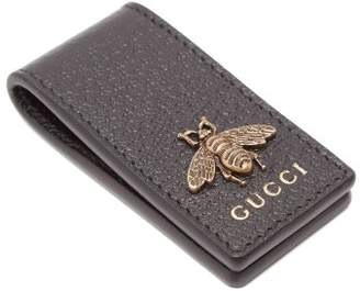 Gucci - Bee Embellished Leather Money Clip - Mens - Black