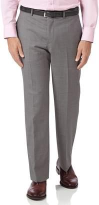 Charles Tyrwhitt Silver Classic Fit Cross Hatch Weave Italian Suit Wool Pants Size W34 L32