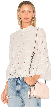 Ulla Johnson Grace Blouse in White $299 thestylecure.com