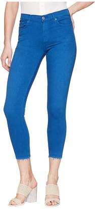 7 For All Mankind The Ankle Skinny w/ Released Hem in Cobalt Blue Women's Jeans
