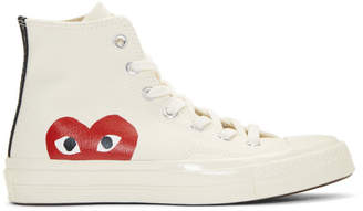 Comme des Garcons Off-White Converse Edition Chuck Taylor All-Star '70 High-Top Sneakers