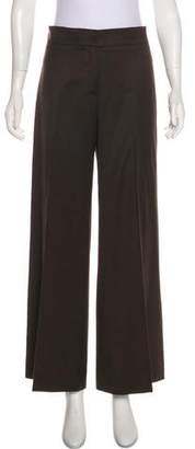 Oscar de la Renta Wool High-Rise Wide-Leg Pants