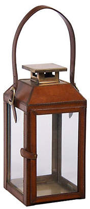 Augustine 13 Leather Lantern - Bradburn Home