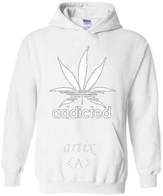 Artix Addicted Leaf Unisex Hoodie Weed Related Sweatshirts