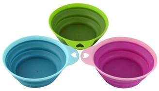 Southern Homewares Collapsible Silicone Bowl Set, 3 Piece
