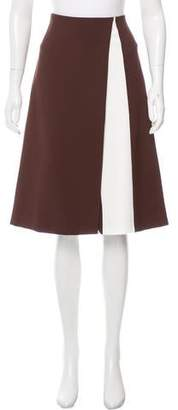 Narciso Rodriguez Contrast Knee-Length Skirt