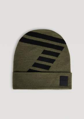 1bba15db340 at armani.com · Emporio Armani Knitted Hat With Contrast Ea7 Logo