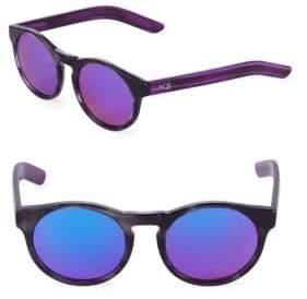 Mirrored 49MM Round Sunglasses