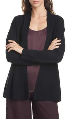 Eileen Fisher Shaped Merino Wool Cardigan